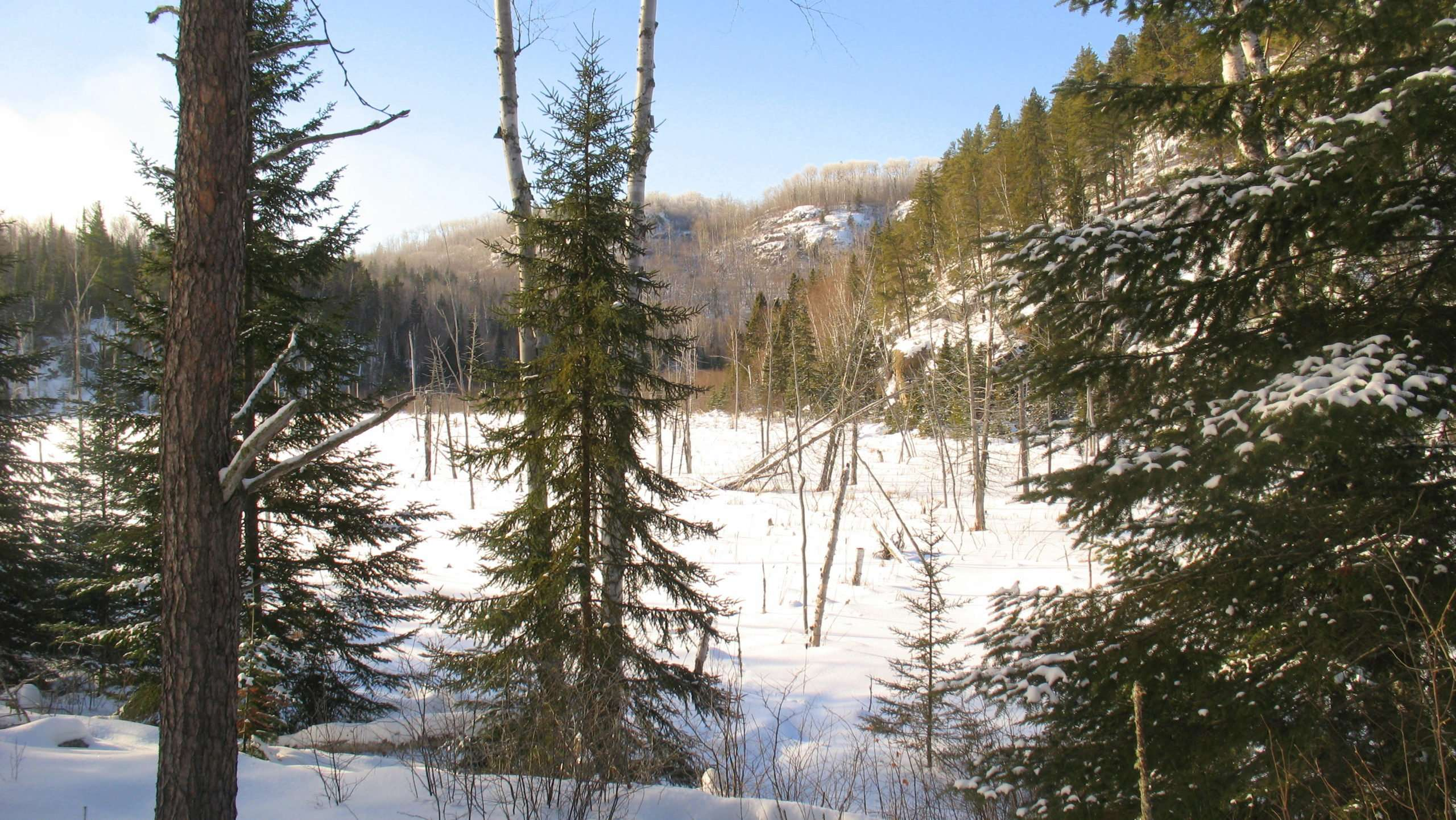 Crescent Lake to Mud Lake Snowshoe